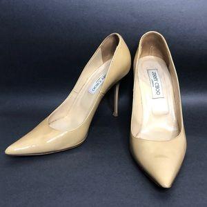 Jimmy Choo Patent nude high heels